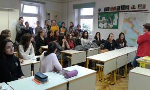 Pri pouku na italijanski gimnaziji v Kopru. Foto: Leja Logar
