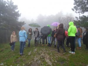 Deževno vreme in megla nas nista ovirala pri našem delu. Vir: Geografija z razgledom na morje | Facebook