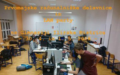 Prvomajske računalniške delavnice in LAN party na Gimnaziji Ilirska Bistrica