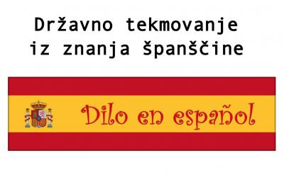Srebrno in bronasta priznanja na državnem tekmovanju iz znanja španščine