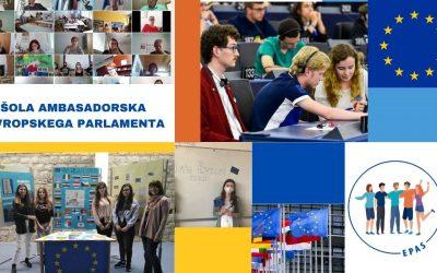 Gimnazija Ilirska Bistrica tudi v šolskem letu 2021/22 sodeluje v programu Šola ambasadorka Evropskega parlamenta (EPAS)