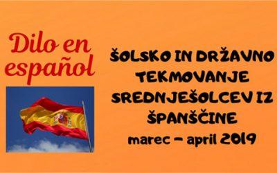 Rezultati šolskega in državnega tekmovanja iz španščine Dilo en español